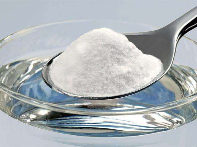 раствор из соды для чистки силиконового чехла