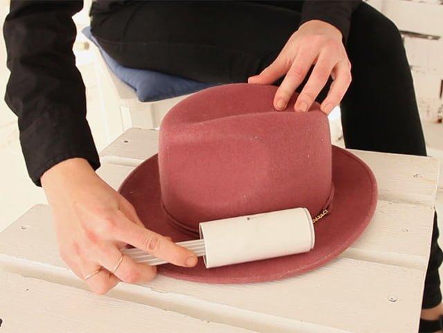 сухая чистка шляпы из фетра