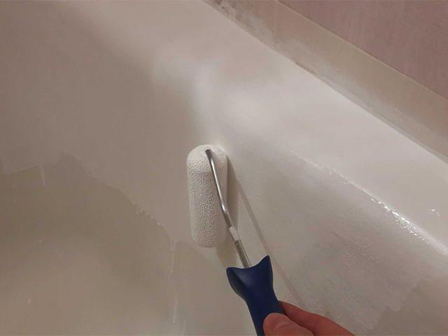 нанесение эмали на ванну