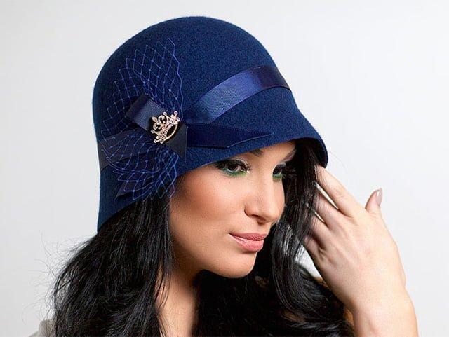 женская шляпа из фетра