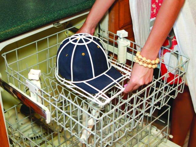 стирка бейсболки в посудомоечной машине