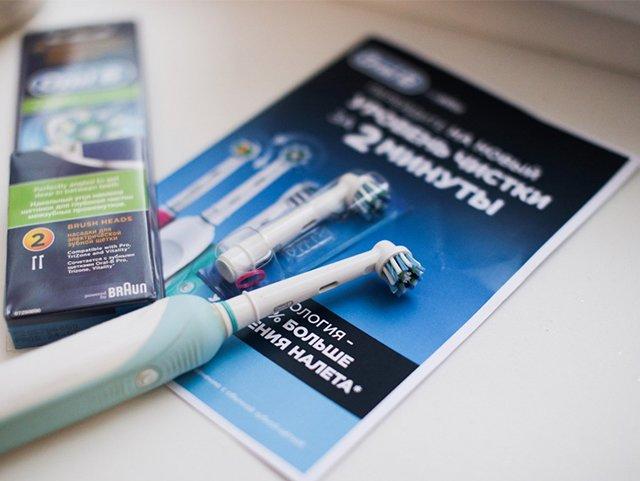 замены насадки на зубной щетке