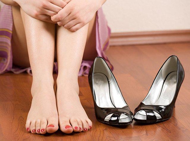 нерастянутые туфли