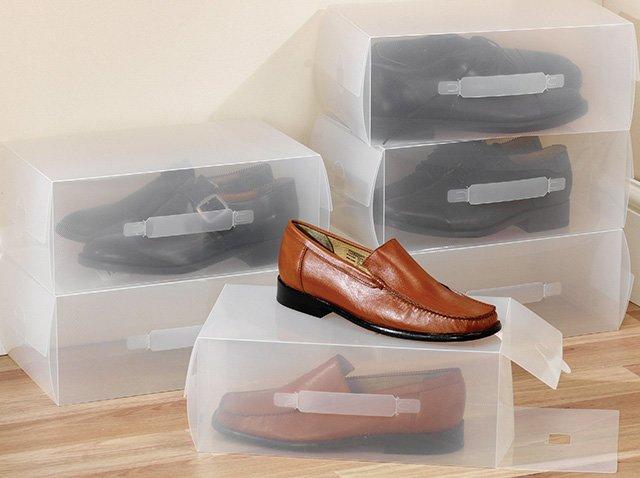 хранение обуви в специальных коробках