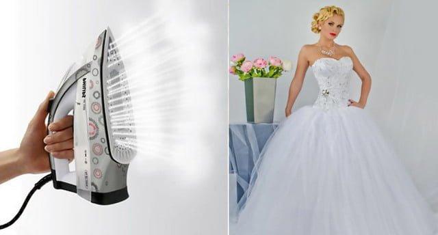 Отпарить свадебное платье в домашних условиях