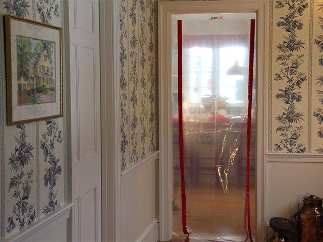 защита комнаты от пыли