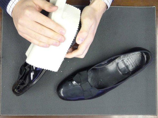 тряпка для лаковой обуви