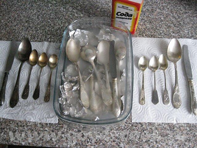 сода для чистки серебра