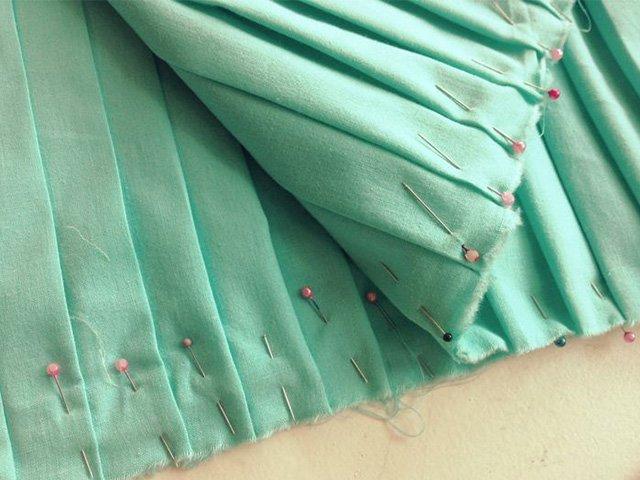 подготовка юбки к стирке