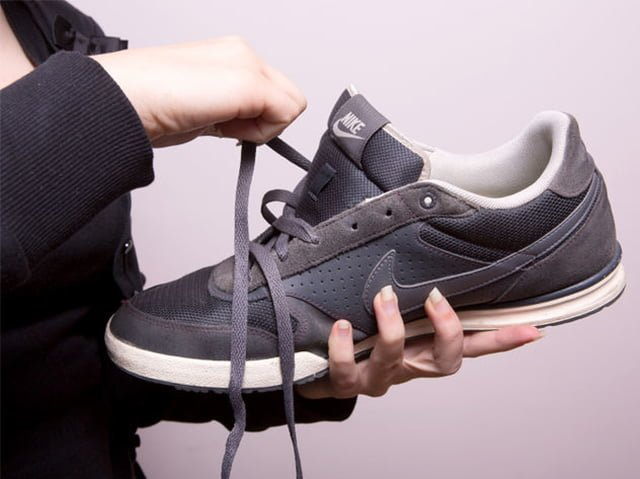 подготовка обуви к сушке