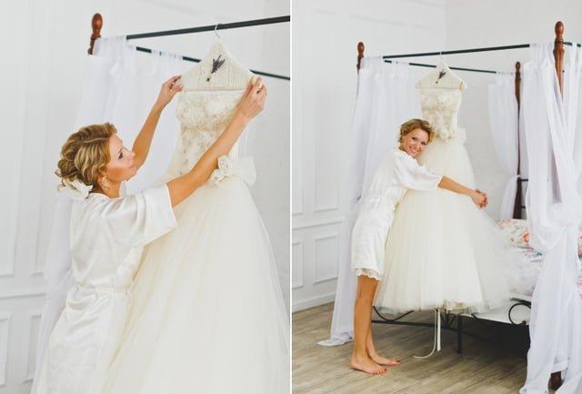 Как отпарить свадебное платье утюгом