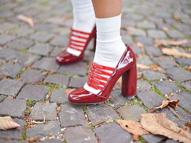 разнашивание лакированных туфель