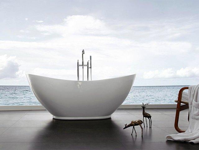 акриловая ванна в форме чаши