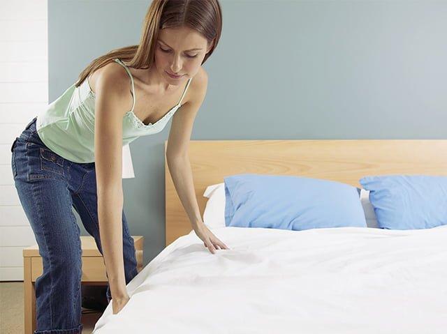 заправление кровати