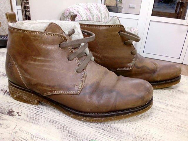 разводы от крема на обуви