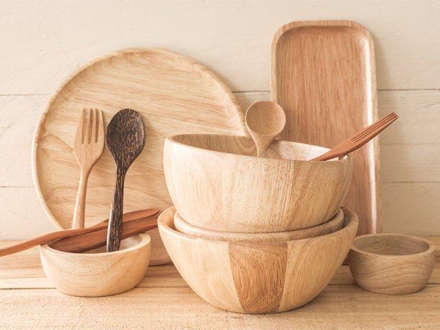 посуда и столовые приборы из дерева
