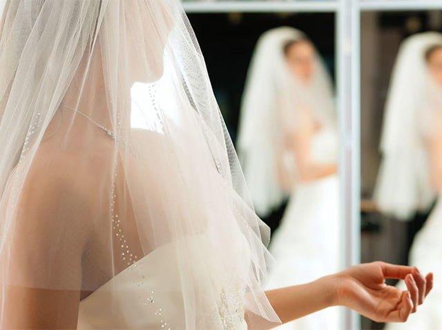 невеста в свадебной фате