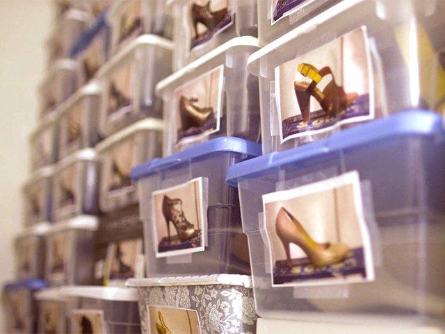 пластиковые коробки с фотографиями для хранения обуви