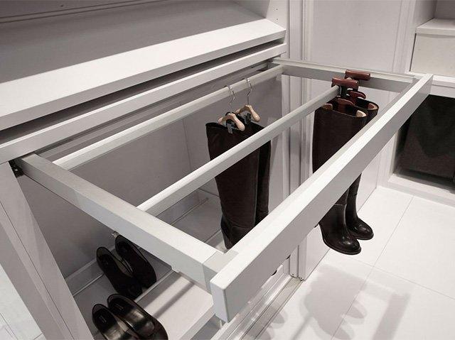 хранение сапог в гардеробной