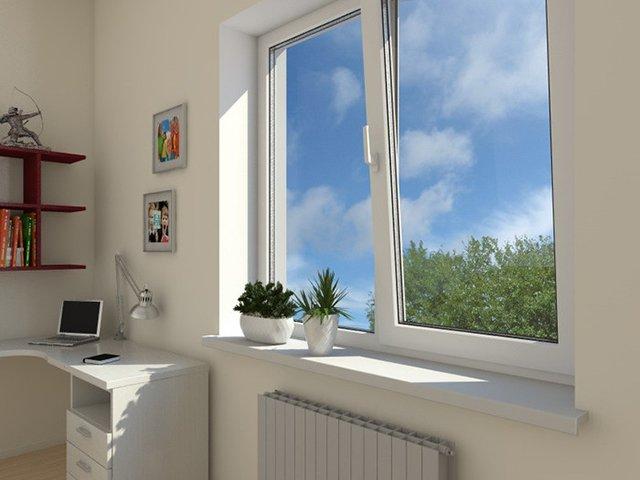 пластиковые окна в комнату