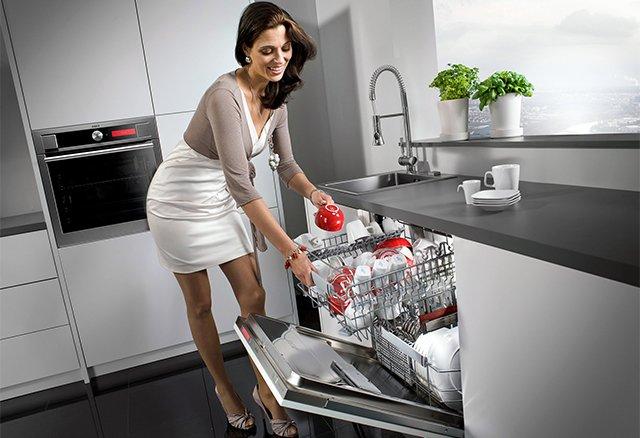 размещение посуды в посудомоечной машине