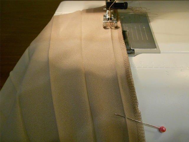 прошивка гофрированной юбки