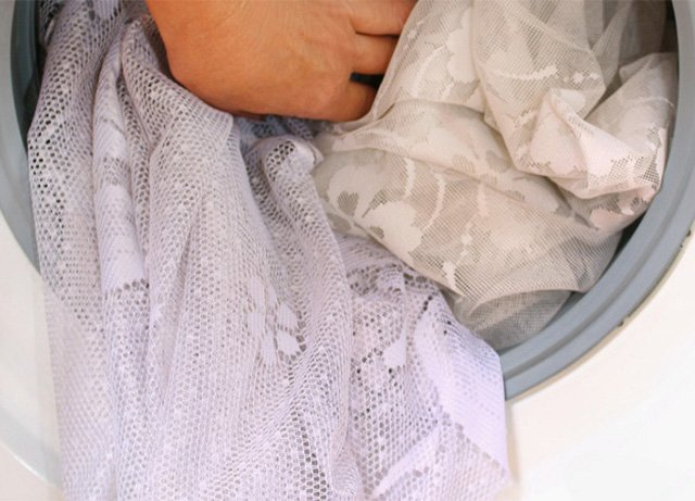 стирка штор в стиральной машине