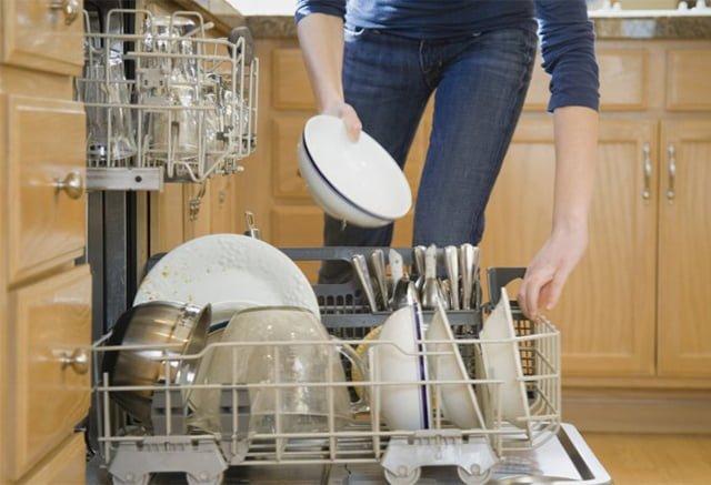 организация размещения посуды в посудомоечной машине