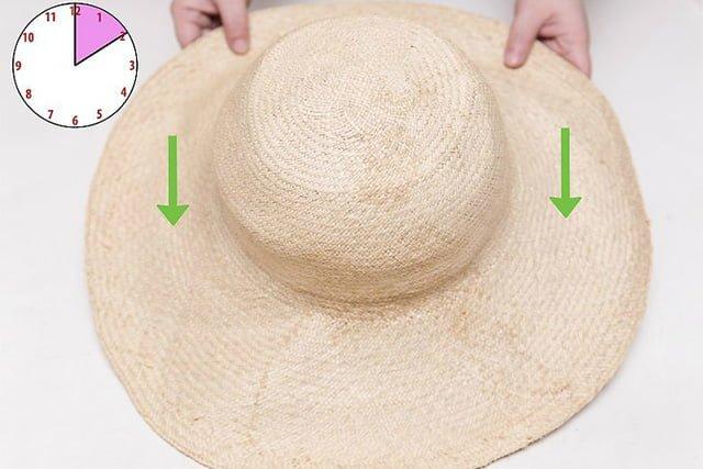 соломенная шляпа после чистки