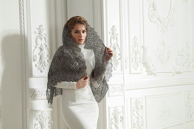 теплый платок на зиму