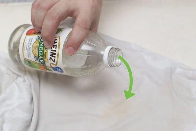 уксус для ручной стирки белых вещей
