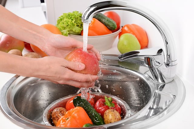 подготовка овощей и фруктов к употреблению