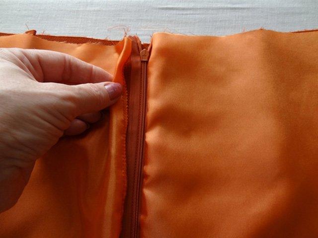 обработка юбки подкладом