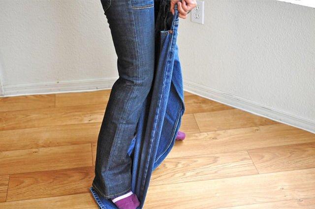 метод растягивания джинсов в длину