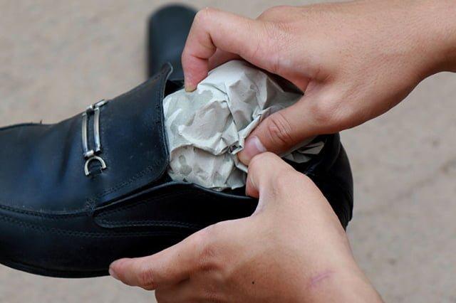 бумага для растягивания кожаных ботинок