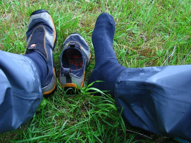 носки промокли в походе