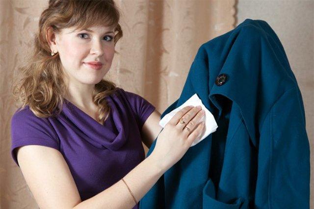 чистка пальто из драпа