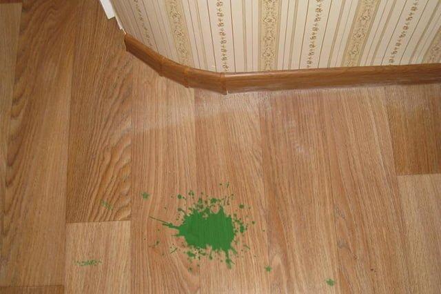 пятно от зеленки на полу