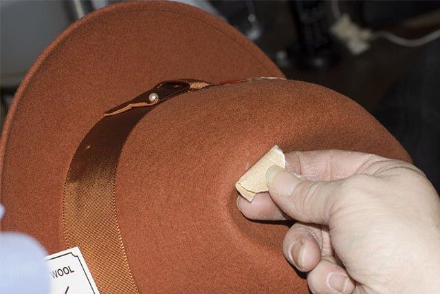наждачная бумага для восстановления фетровой шляпы