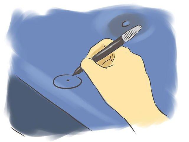 отметка на месте дырки в надувном матрасе