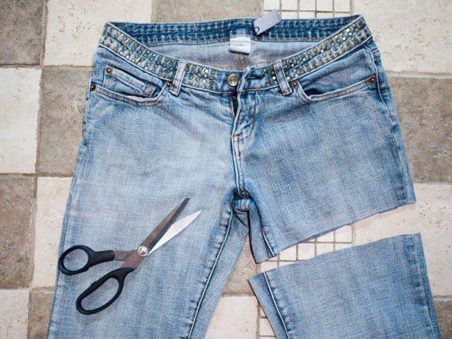 джинсы под шорты