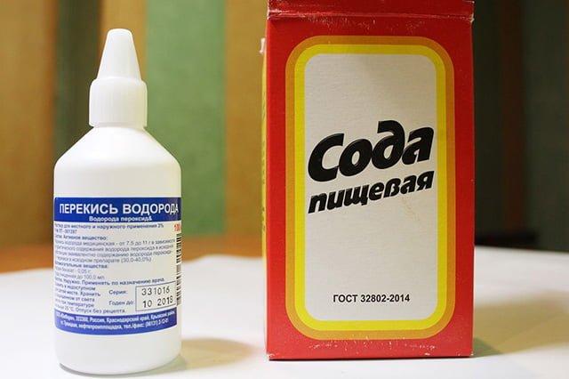 сода и перекись водорода для отбеливания белого и цветного белья
