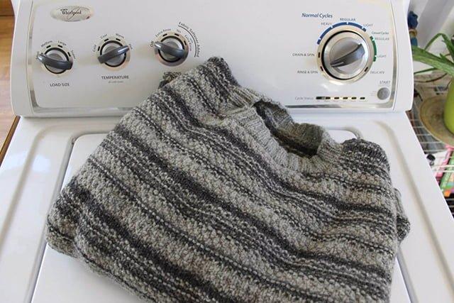 стирка кофты в стиральной машине