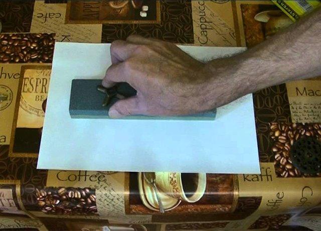 заточка ножа от мясорубки бруском