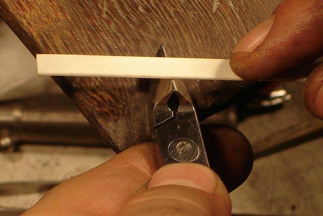 заточка щипчиков при помощи алмазного бруска