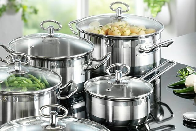 тушение овощей в кастрюле