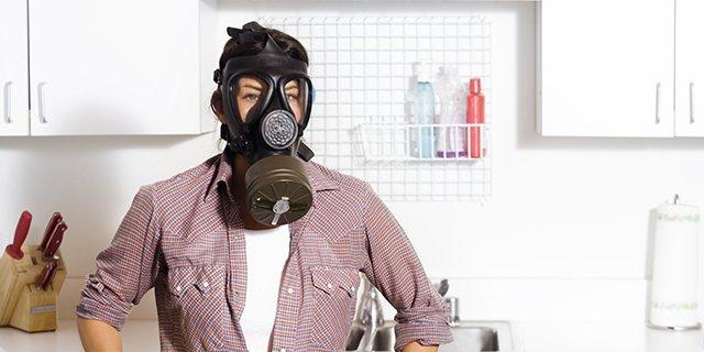 запах от скатерти на кухне