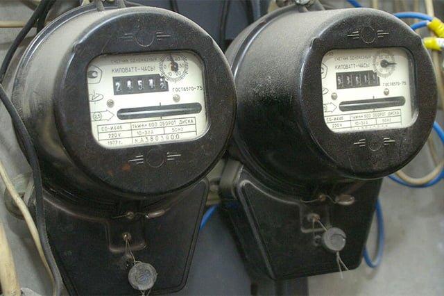 электроэнергия через счетчики