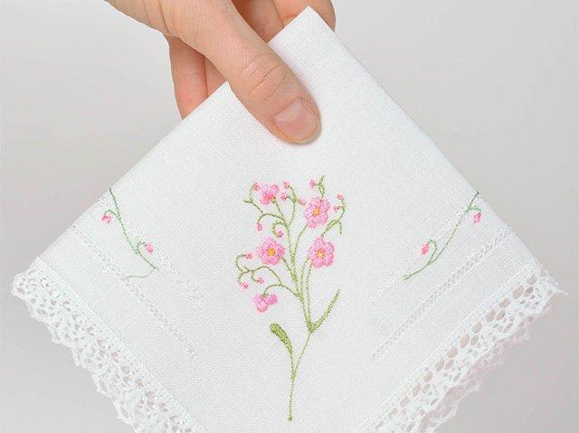 носовой платок с вышивкой