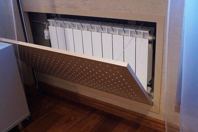 деревянная решетка на радиатор